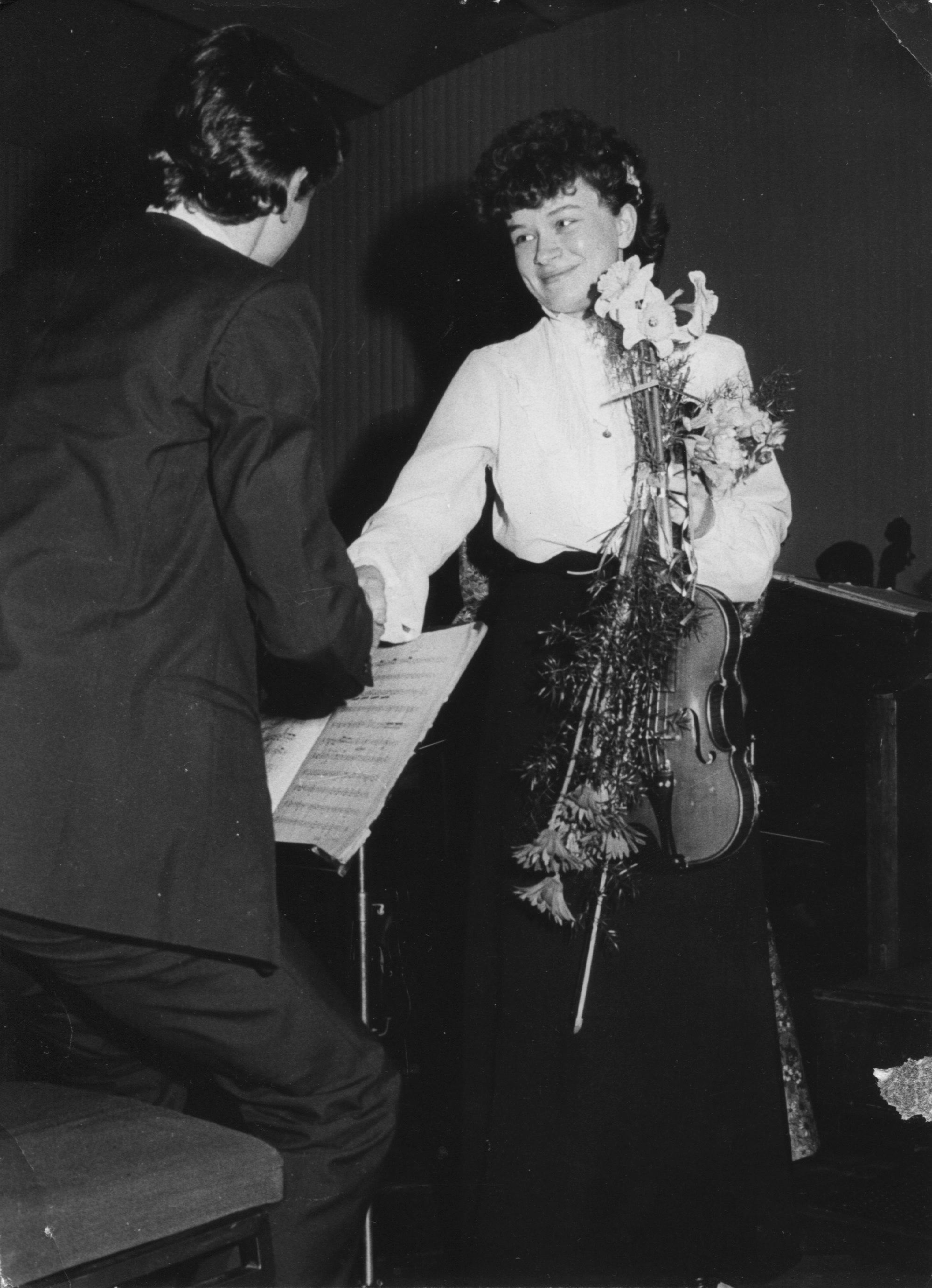 2b, After performance with the Szymanowski Liceum Symphony Orchestra, Poland, age 16