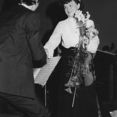 2b, After performance with the Szymanowski Liceum Symphony Orchestra, Poland, age 16